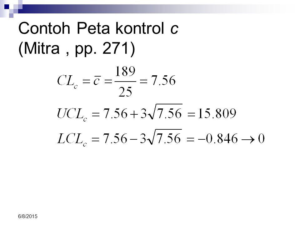 6/8/2015 Contoh Peta kontrol c (Mitra, pp. 271)