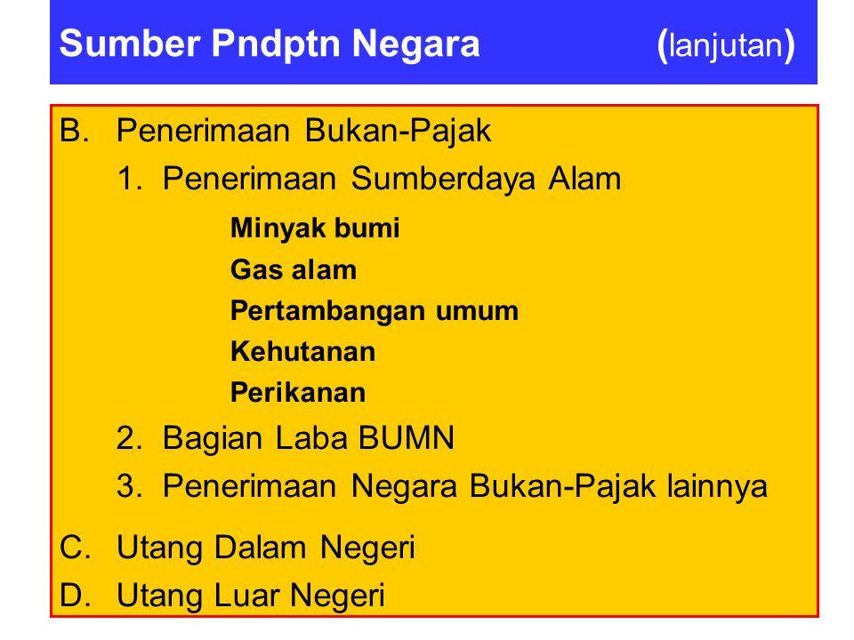 Contoh soal Penerimaan pajak yang terbesar dalam struktur penerimaan pajak Pemerintah Pusat Indonesia adalah dari: a.cukai b.bea masuk c.pajak penghas