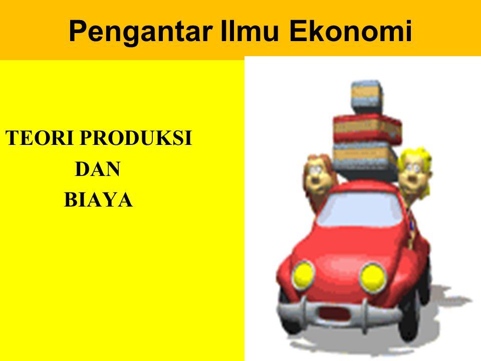 Perusahaan, Produksi, dan Biaya Perusahaan adalah kesatuan teknis, yang bertujuan untuk menghasilkan benda-benda atau jasa.