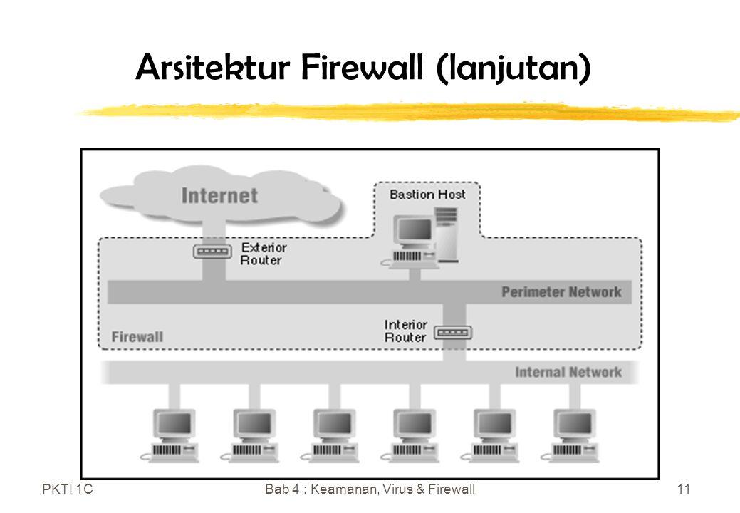 PKTI 1CBab 4 : Keamanan, Virus & Firewall11 Arsitektur Firewall (lanjutan)