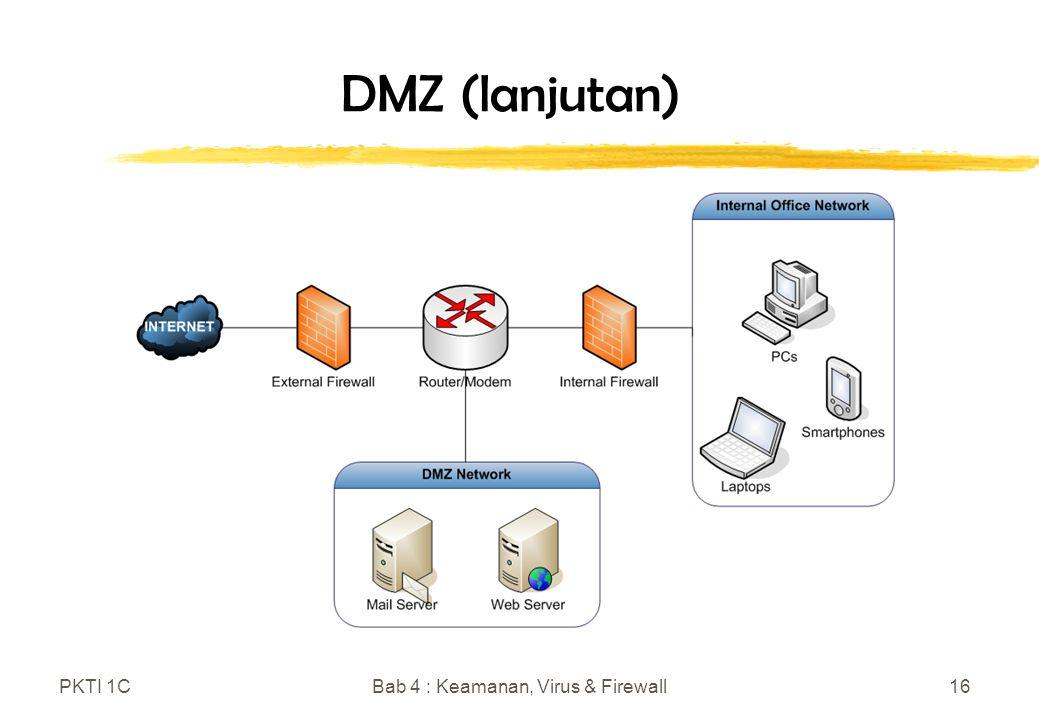 PKTI 1CBab 4 : Keamanan, Virus & Firewall16 DMZ (lanjutan)