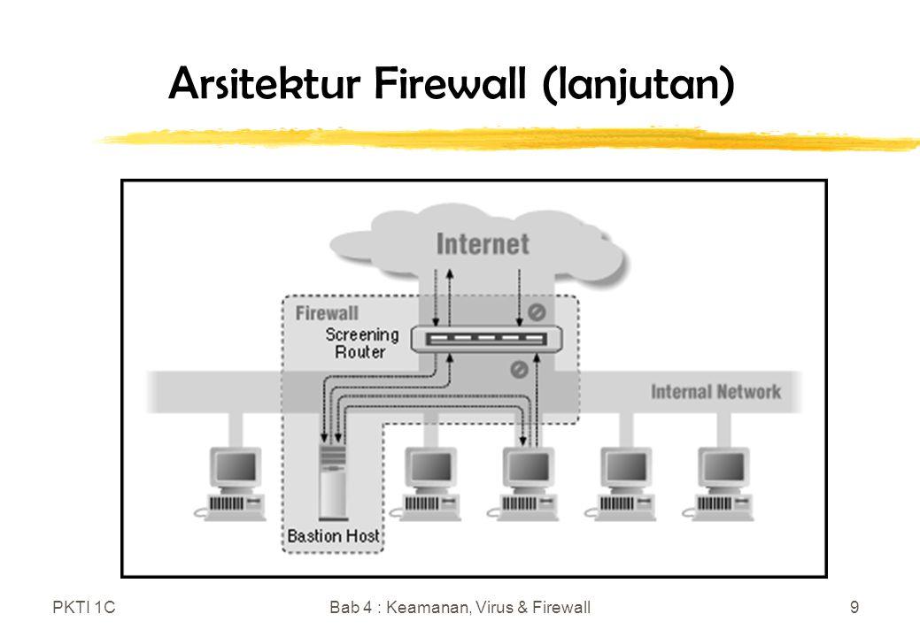 PKTI 1CBab 4 : Keamanan, Virus & Firewall9 Arsitektur Firewall (lanjutan)