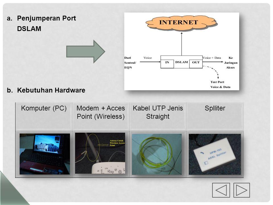 BAB IV PEMBAHASAN 1.Prosedur Instalasi Jaringan Speedy Proses instalasi speedy meliputi tahapan-tahapan proses yang saling berhubungan, maka langkah-l
