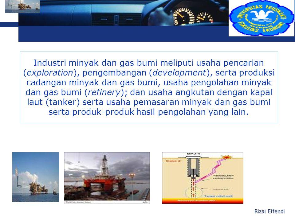 L o g o Perusahaan dalam industri minyak dan gas bumi dapat berbentuk usaha terpadu (integrated) dalam arti bahwa perusahaan tersebut mempunyai usaha eksplorasi, pengembangan, produksi, refinery, tanker dan pemasaran sebagai satu kesatuan usaha, atau berbentuk usaha-usaha terpisah yang masing-masing berdiri sendiri.