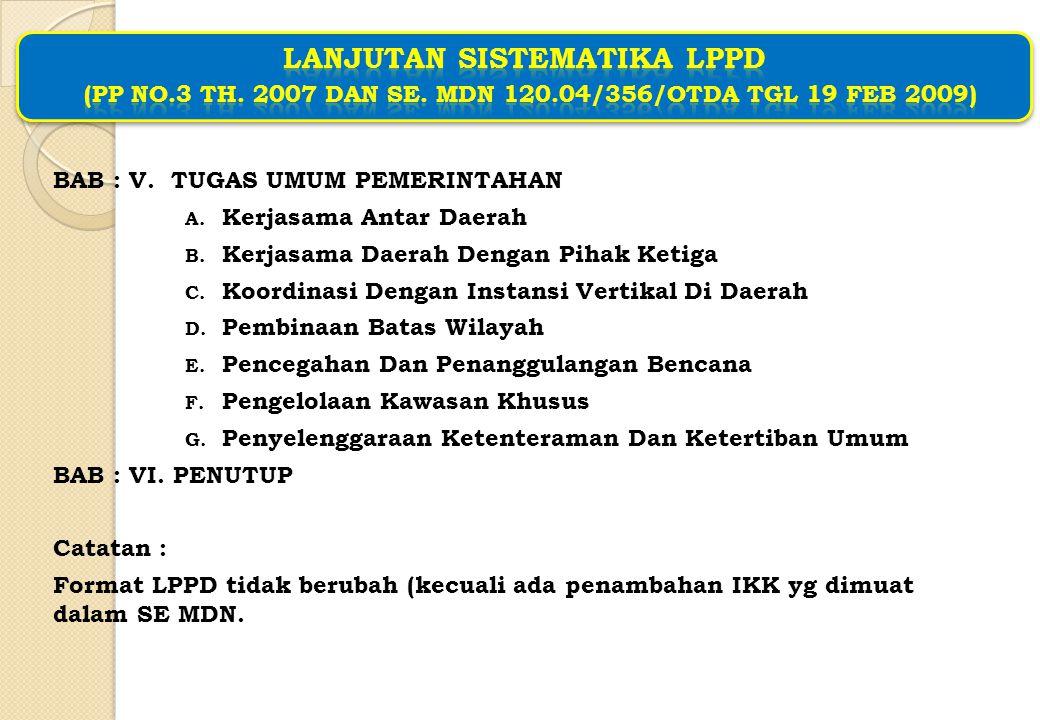 Ruang Lingkup LPPD (PP 3.