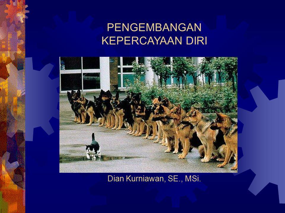 PENGEMBANGAN KEPERCAYAAN DIRI Dian Kurniawan, SE., MSi.