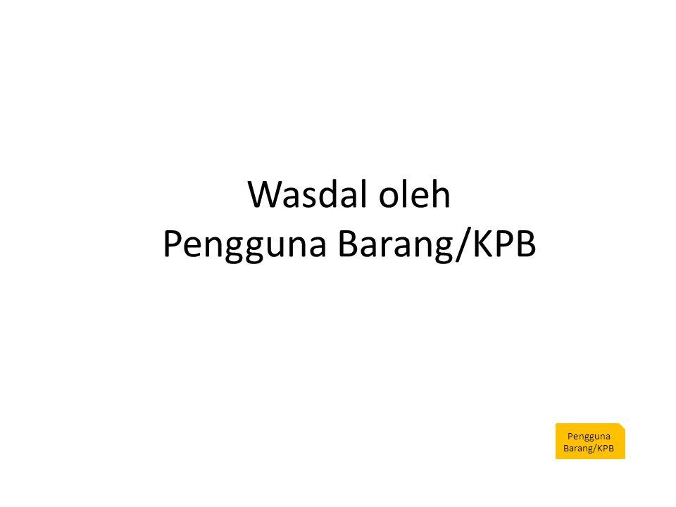 Wasdal oleh Pengguna Barang/KPB Pengguna Barang/KPB