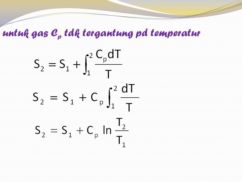 untuk gas C p tdk tergantung pd temperatur
