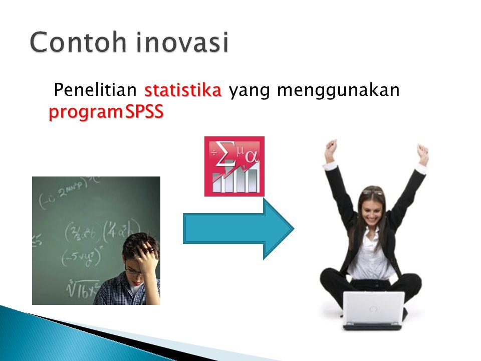statistika programSPSS Penelitian statistika yang menggunakan programSPSS
