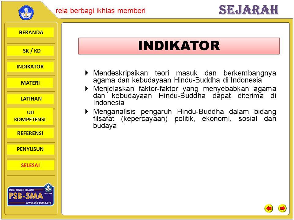 BERANDA SK / KD INDIKATORSejarah rela berbagi ikhlas memberi MATERI LATIHAN UJI KOMPETENSI REFERENSI PENYUSUN SELESAI Teori Ksatria Teori Waisya Teori Sudra Teori Brahmana Teori Arus Balik Teori Masuknya Agama Hindu Di Indonesia Teori Masuknya Agama Hindu Di Indonesia