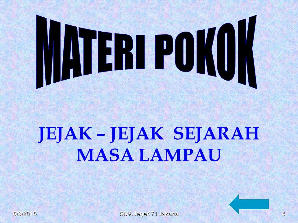 KOMPETENSI DASAR MENDISKRIPSIKAN HAKEKAT RUANG LINGKUP DAN PRINSIP PRINSIP DASAR ILMU DAN PENELITIAN SEJARAH 6/8/20153SMA Jegeri 71 Jakarta