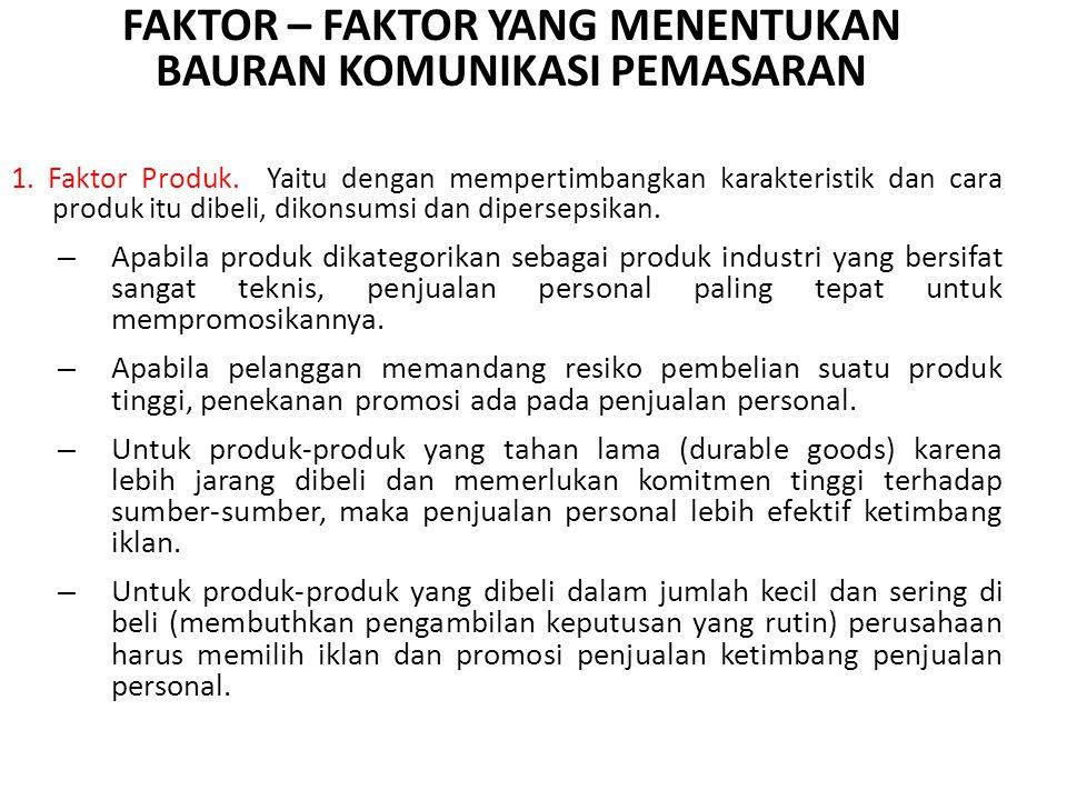 1.Faktor Produk.