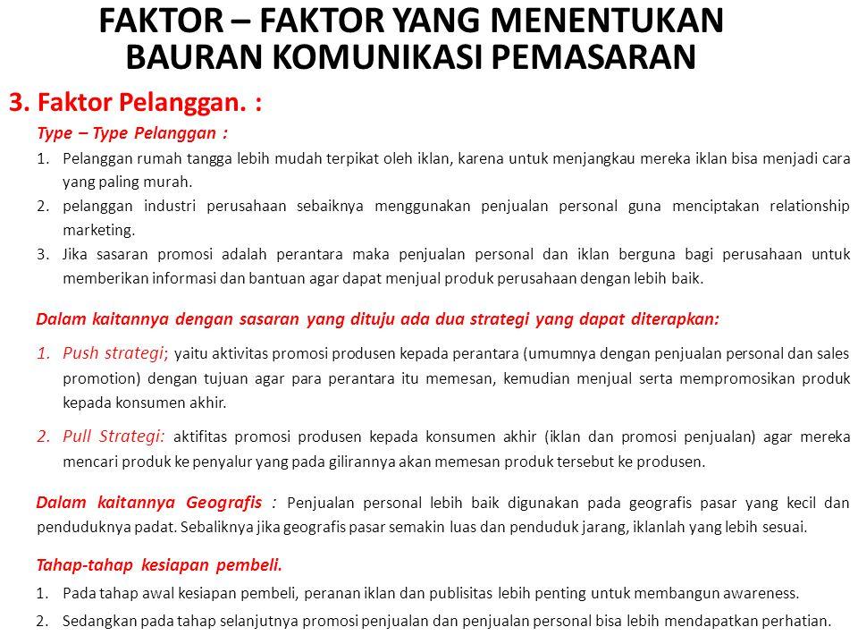 3.Faktor Pelanggan.