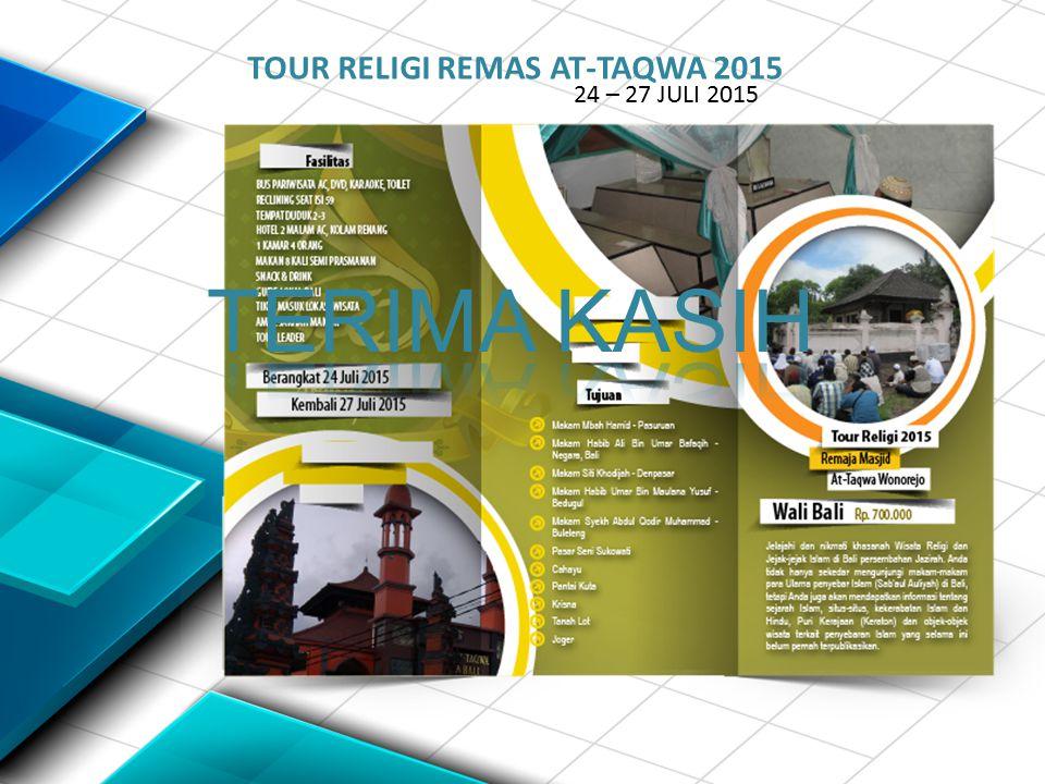 TOUR RELIGI REMAS AT-TAQWA 2015 24 – 27 JULI 2015