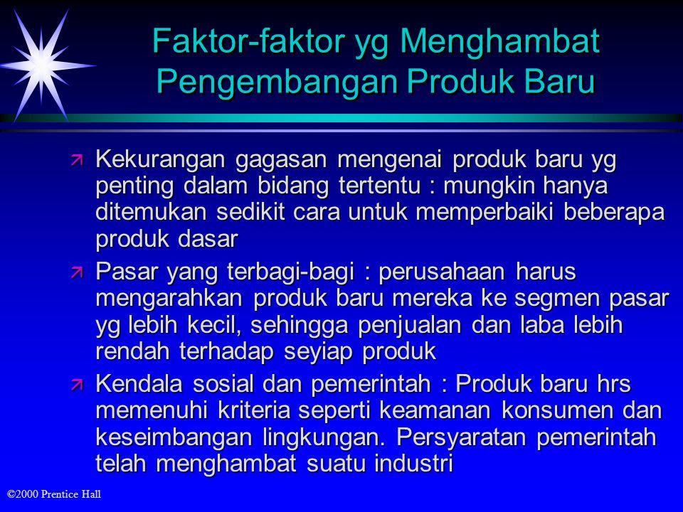 ©2000 Prentice Hall Gambar : Siklus hidup produk untuk tiga jenis produk Analisis Bisnis