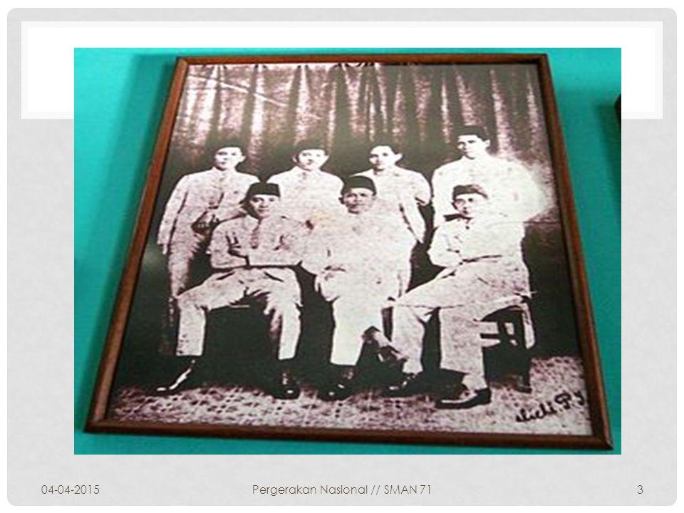 LATAR BELAKANG DIBENTUKNYA PNI Lahirnya PNI dilatarbelakangi oleh situasi sosio-politik yang kompleks yang disebabkan oleh dibubarkannya PKI oleh Pemerintah akibat pemberontakkan yang dilakukan PKI Pada tanggal 4 Juli 1927 di Bandung atas inisiatif Aglemeene Studie Club diadakanlah rapat pendirian Perserikatan Nasional Indonesia.
