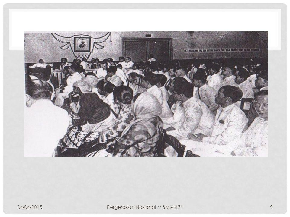 dalam rapat PNI di Bandung tanggal 24-26 Maret disusunlah azas dan daftar usaha suatu anggaran dasar PNI Tujuan Kongres adalah untuk mensahkan anggaran dasar,program azas dan rencana kerja PNI.