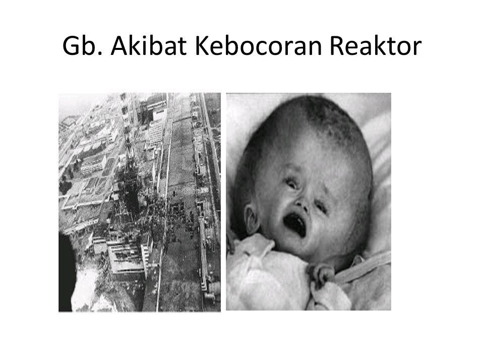 Gb. Akibat Kebocoran Reaktor