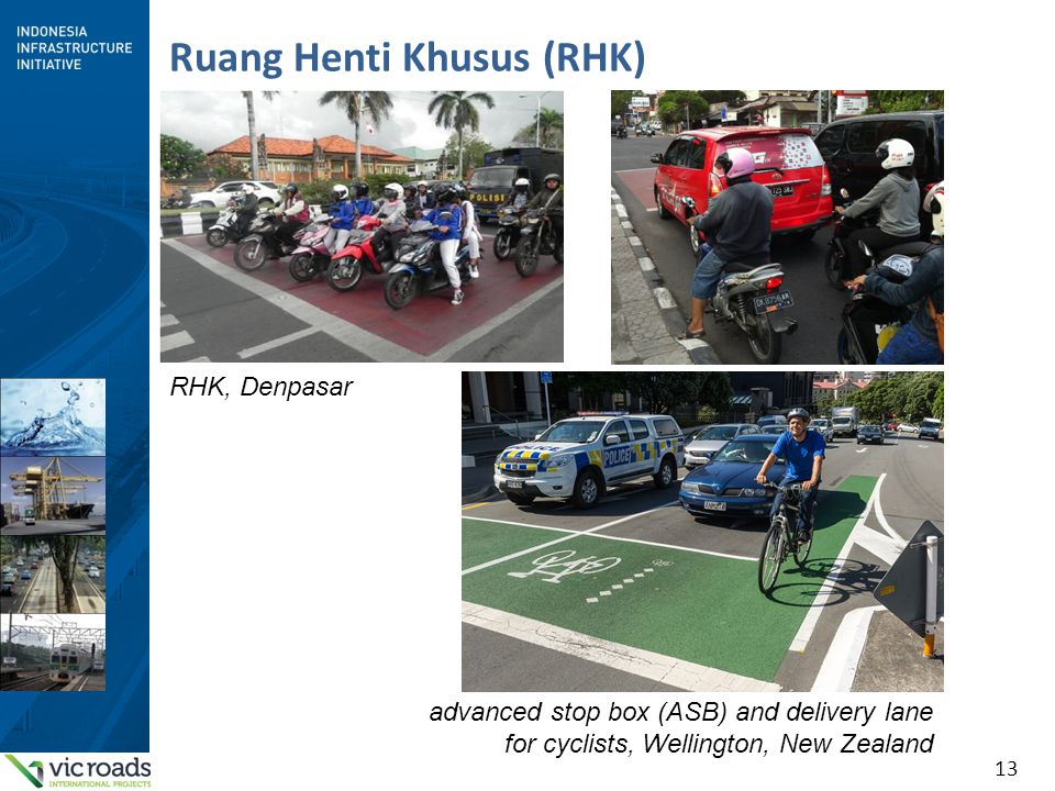 13 Ruang Henti Khusus (RHK) RHK, Denpasar advanced stop box (ASB) and delivery lane for cyclists, Wellington, New Zealand