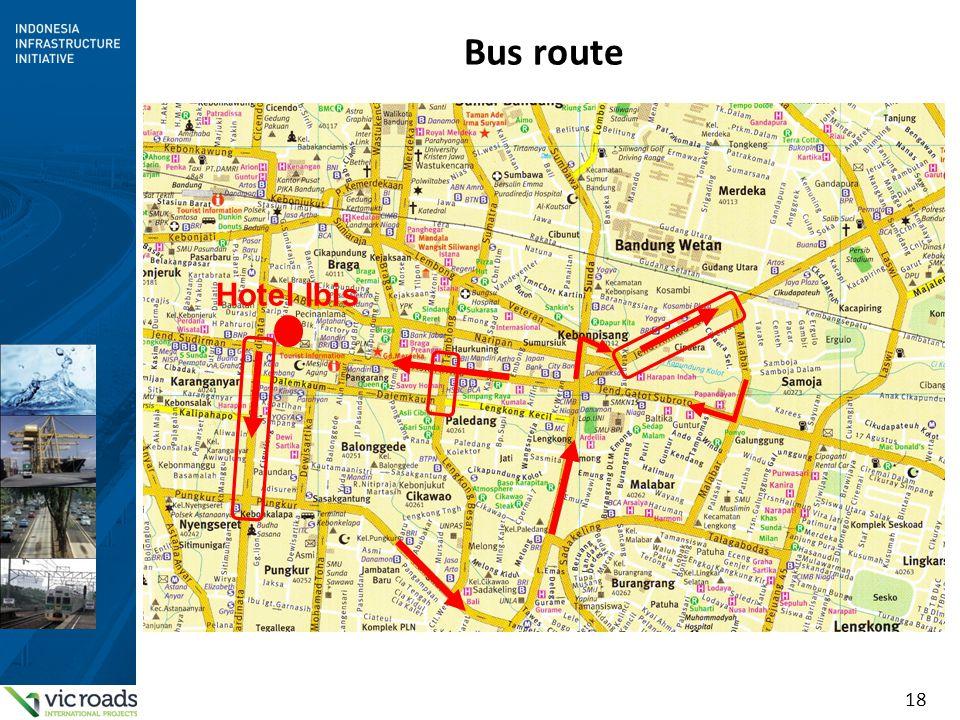 18 Bus route Hotel Ibis