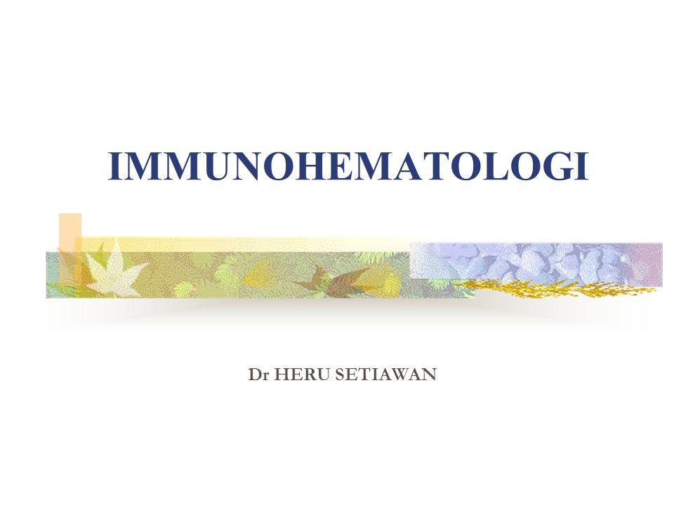 2 IMUNOHEMATOLOGI Cabang Ilmu Patologi Klinik yg mempelajari penggunaan teknik imunologik untuk mendeteksi kelainan-kelainan hematologik, al: 1.