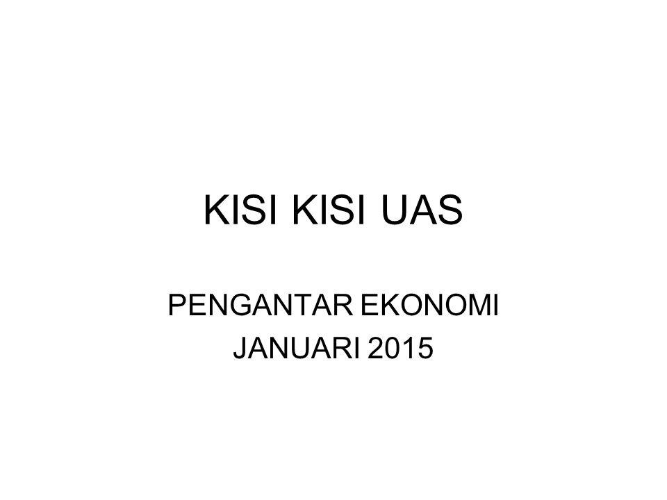 KISI KISI UAS PENGANTAR EKONOMI JANUARI 2015