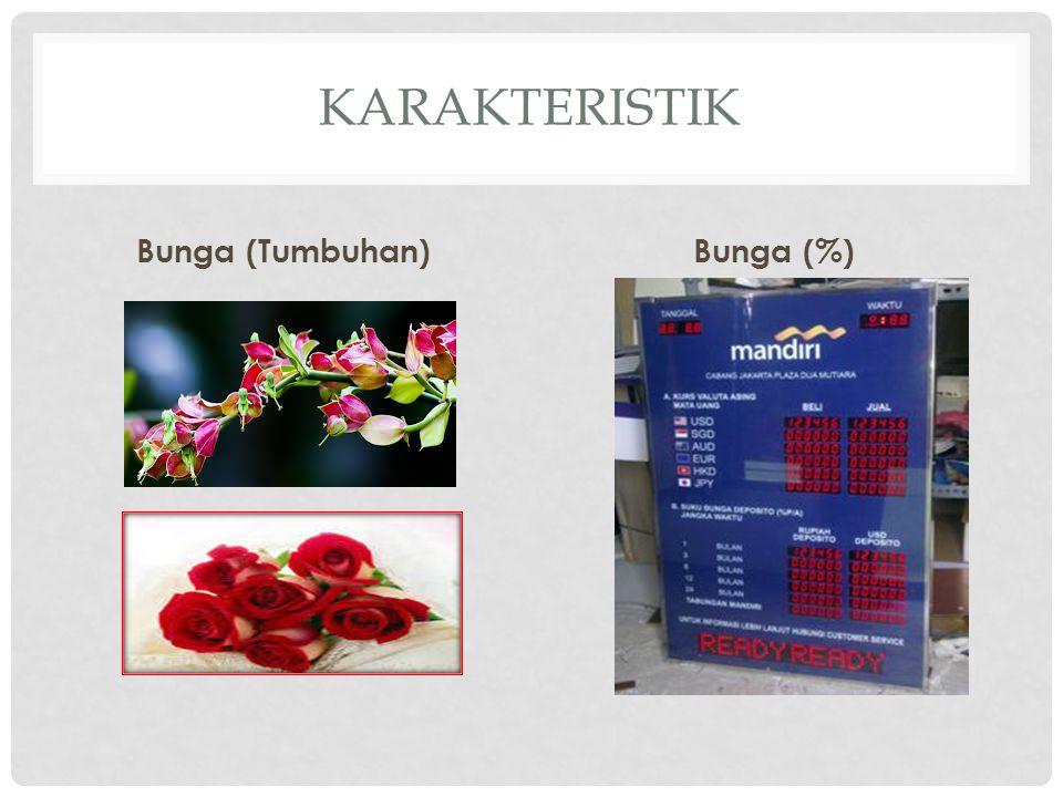 KARAKTERISTIK Bunga (Tumbuhan)Bunga (%)