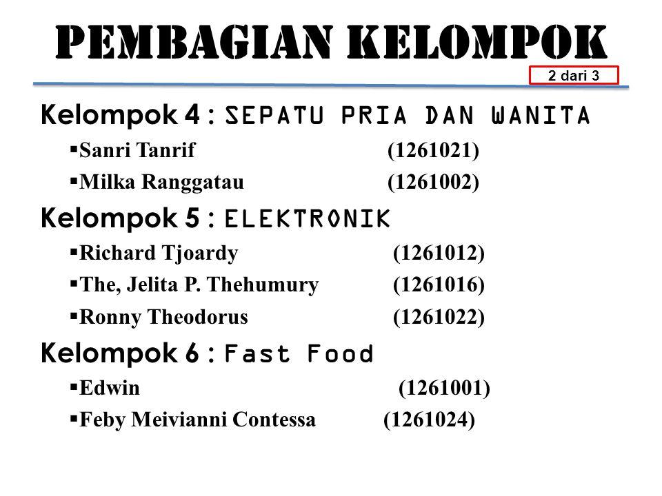 PEMBAGIAN KELOMPOK Kelompok 7 : KOMPUTER  Irwan Kohar(1261014)  Yohanes Paskalis Mariyono N.