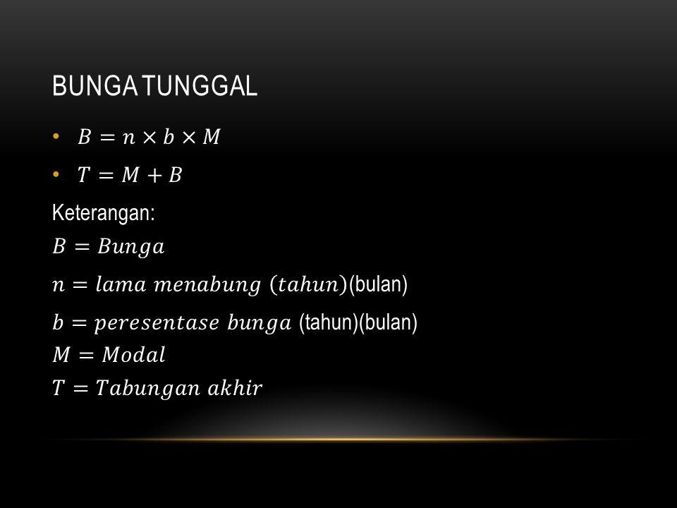 BUNGA TUNGGAL
