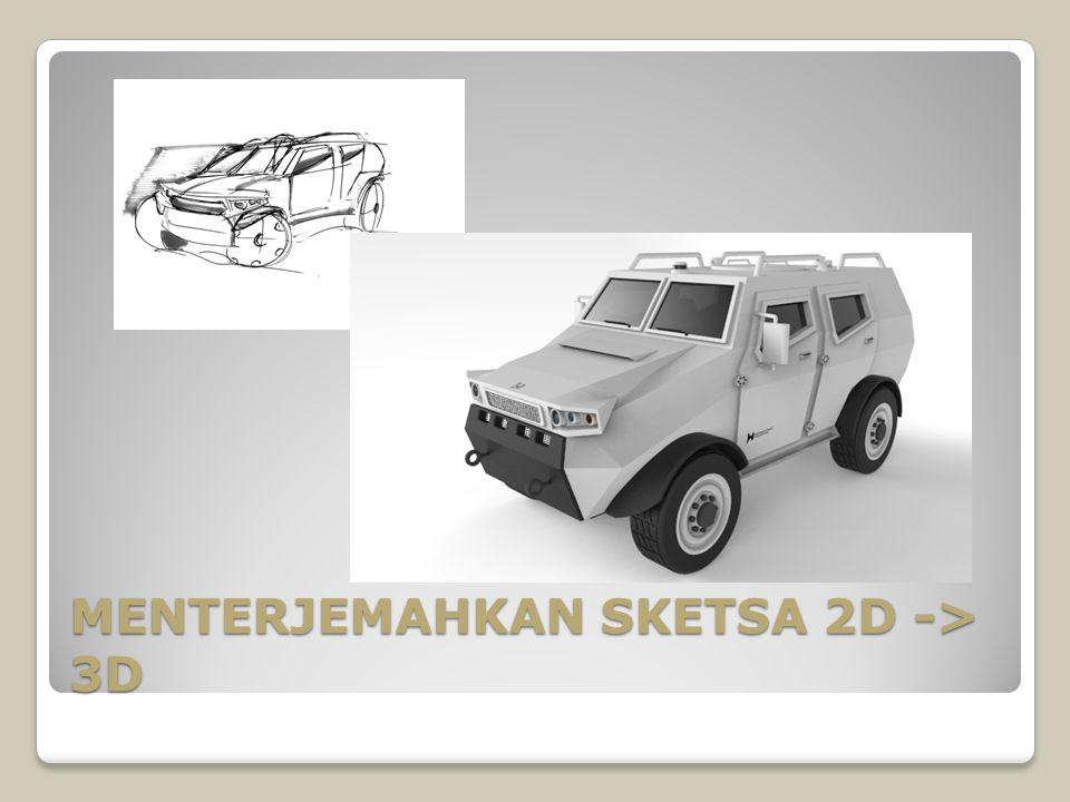 MENTERJEMAHKAN SKETSA 2D -> 3D