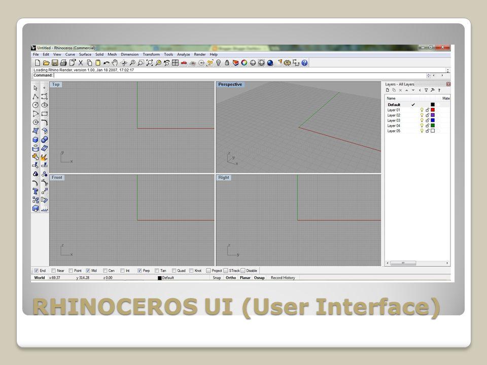 RHINOCEROS UI (User Interface)