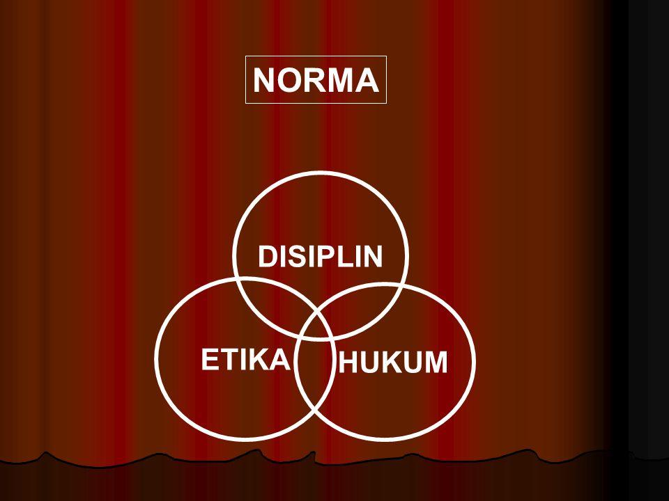 ETIKA ETIKA DISIPLIN DISIPLIN HUKUM HUKUM 1.