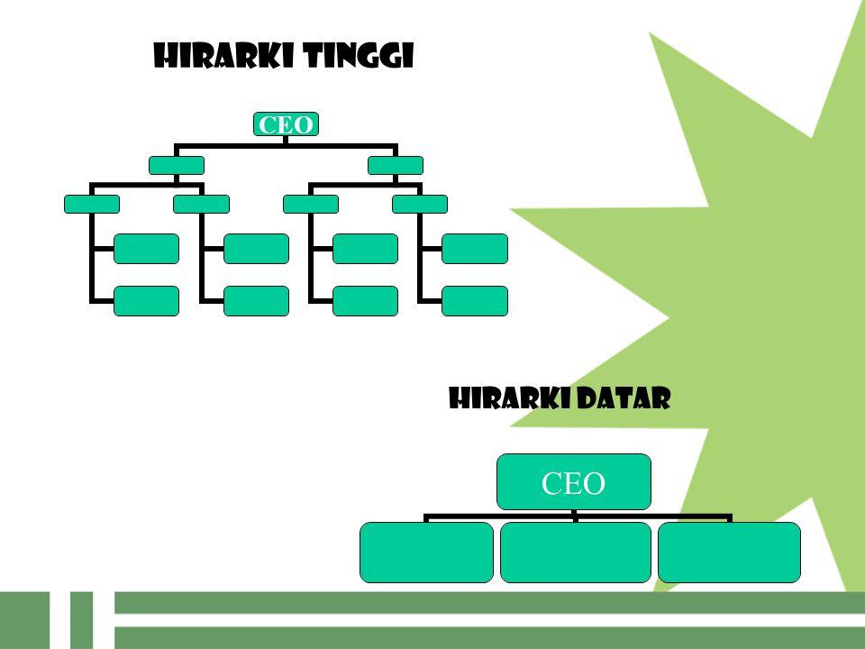 HIRARKI TINGGI CEO HIRARKI DATAR