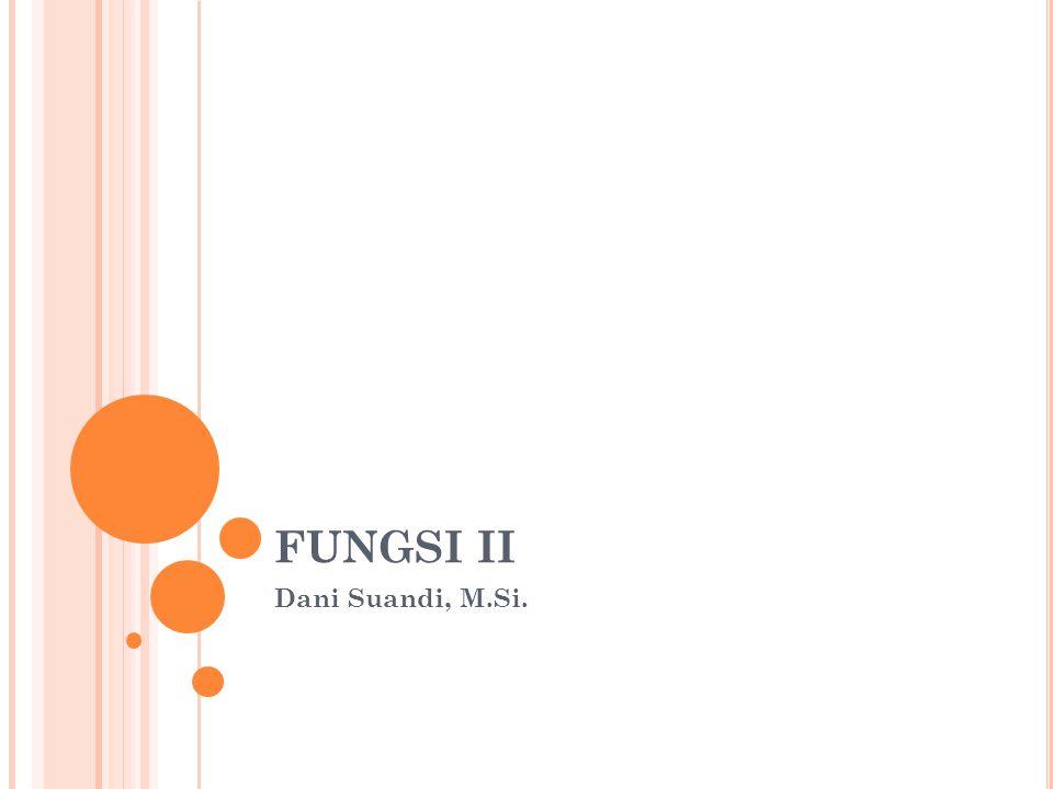 FUNGSI II Dani Suandi, M.Si.