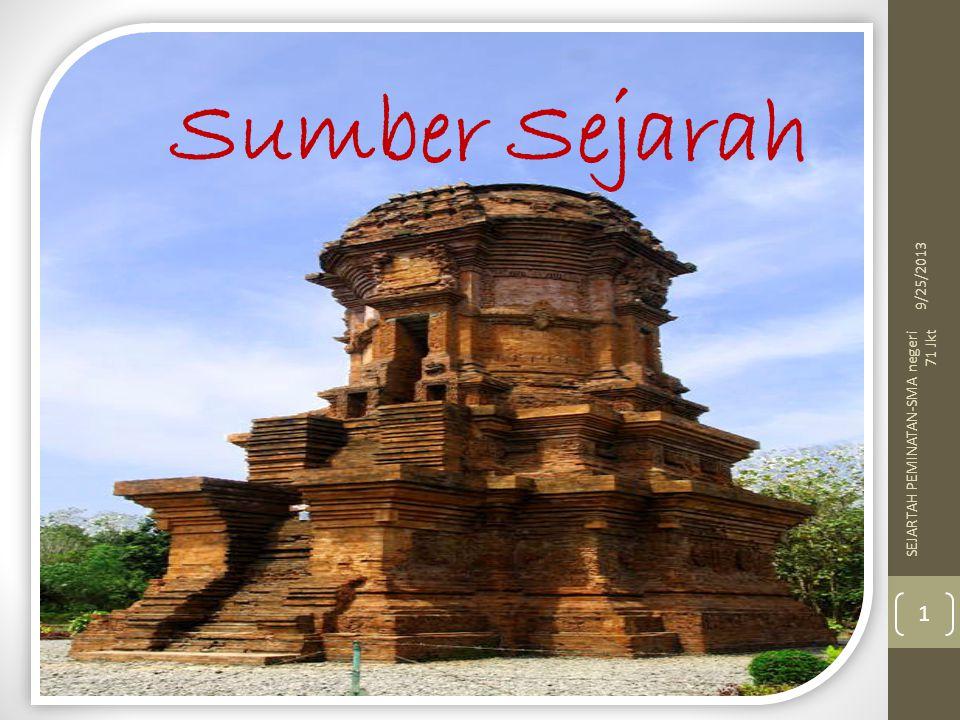 Sumber Sejarah 9/25/2013 1 SEJARTAH PEMINATAN-SMA negeri 71 Jkt
