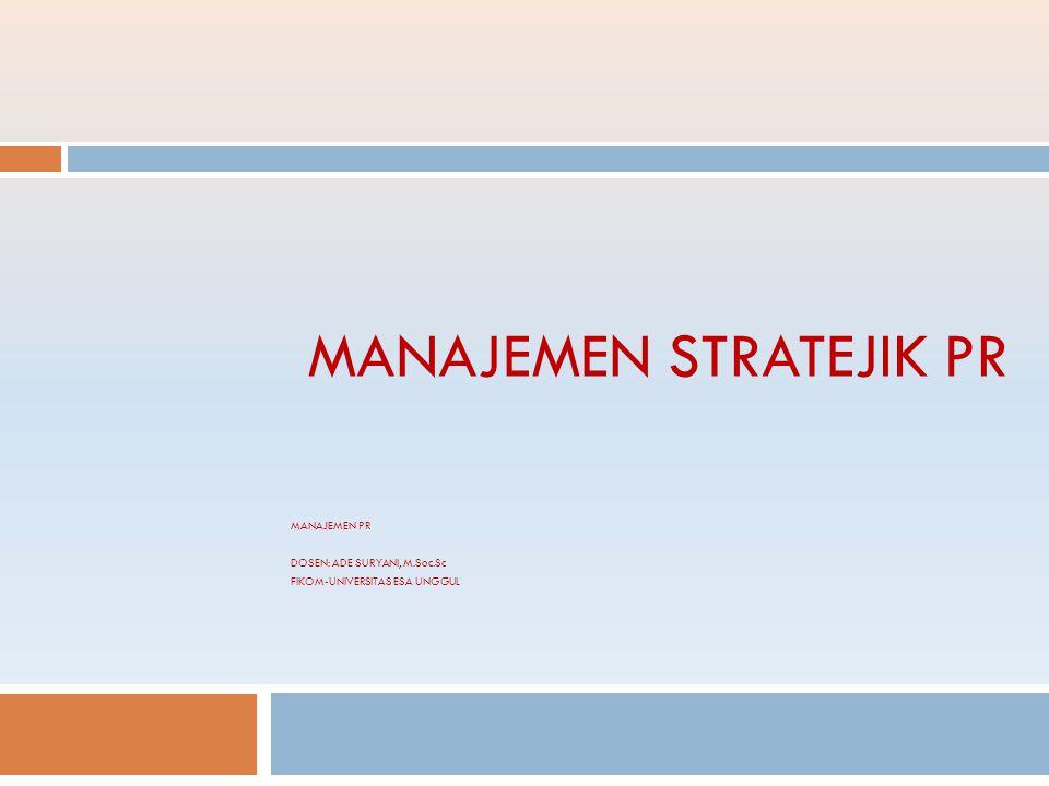 STRATEGI Strategi : Sebuah perencanaan mengenai suatu proses yang akan dilakukan untuk dapat mewujudkan tujuan yang diinginkan pada sebuah instansi atau organisasi.
