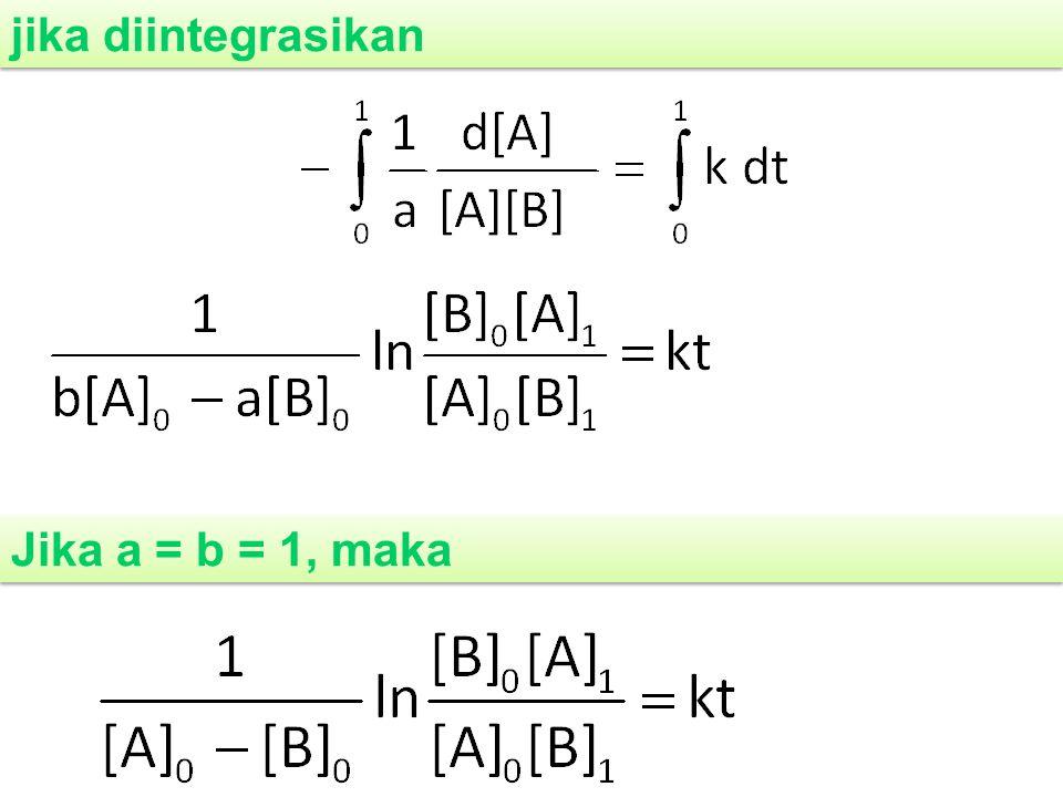 jika diintegrasikan Jika a = b = 1, maka