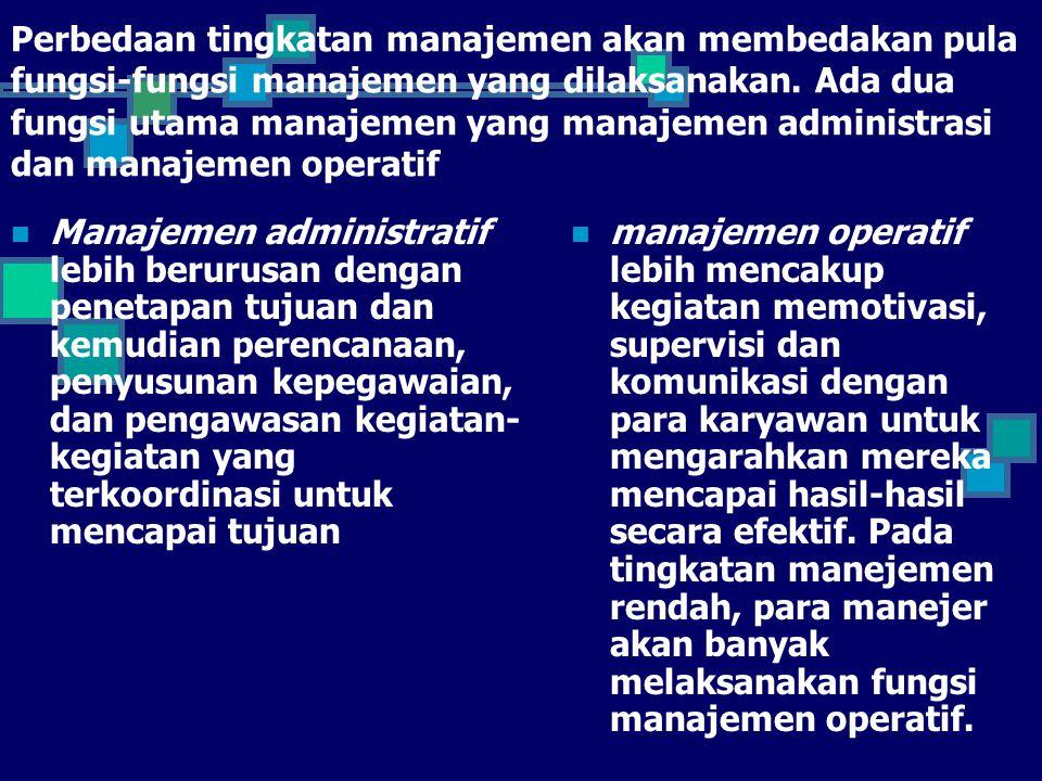 Gambar di bawah ini menunjukkan perbedaan antara kedua tipe manajemen tersebut.