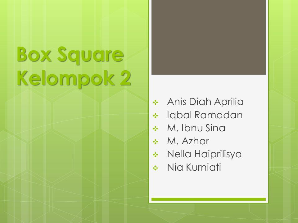 Box Square Kelompok 2  Anis Diah Aprilia  Iqbal Ramadan  M.
