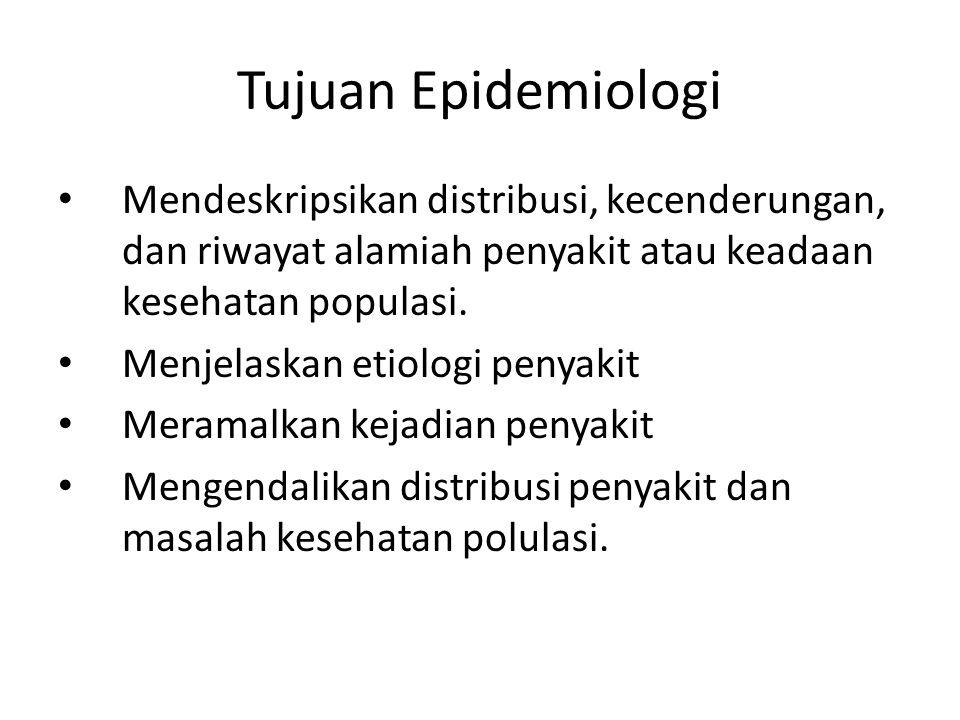 Pendekatan Epidemiologi Epidemiologi biasanya dimulai dengan data deskriptif.