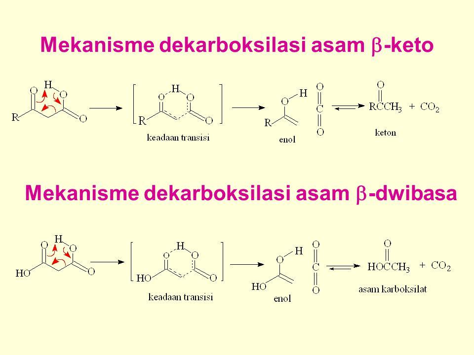 Mekanisme dekarboksilasi asam  -keto Mekanisme dekarboksilasi asam  -dwibasa