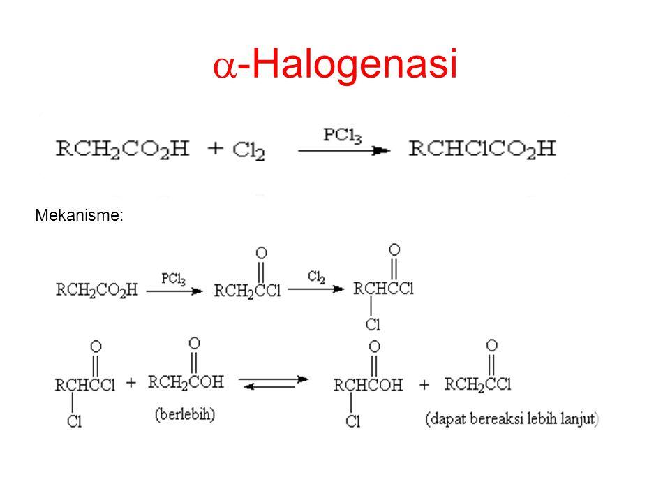  -Halogenasi Mekanisme:
