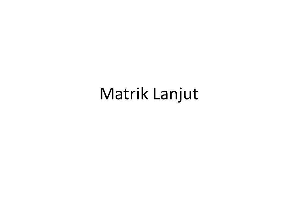 Matrik Lanjut