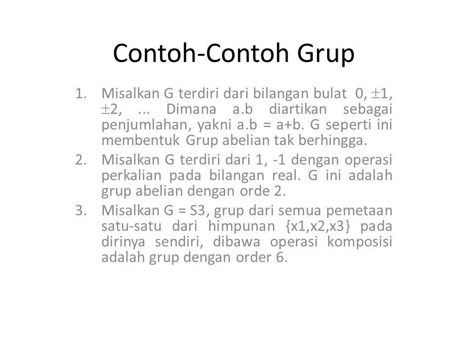 Contoh-Contoh Grup 4.Misalkan n sembarang bilangan bulat.