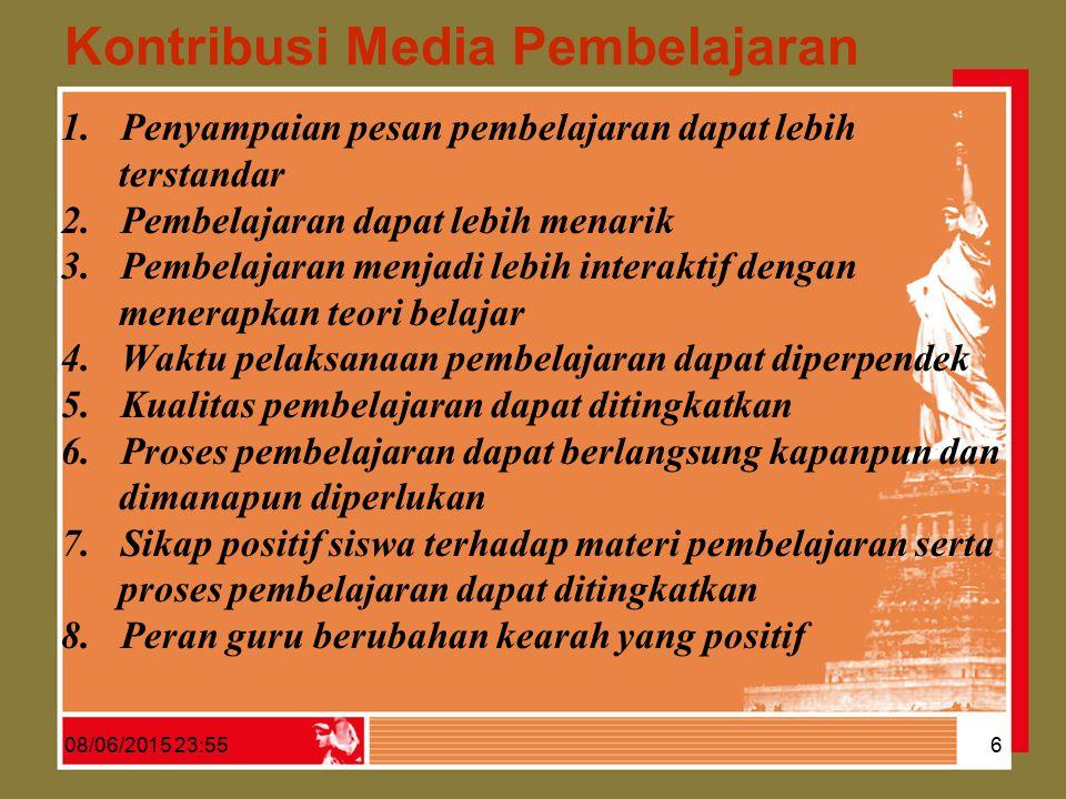 DAFTAR KELOMPOK MEDIA INSTRUKSIONAL MENURUT A NDERSON, 1976 (D ULU ) 08/06/2015 23:57 7 KELOMPOK MEDIAMEDIA INSTRUKSIONAL 1.