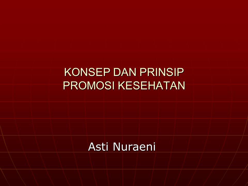 KONSEP DAN PRINSIP PROMOSI KESEHATAN Asti Nuraeni