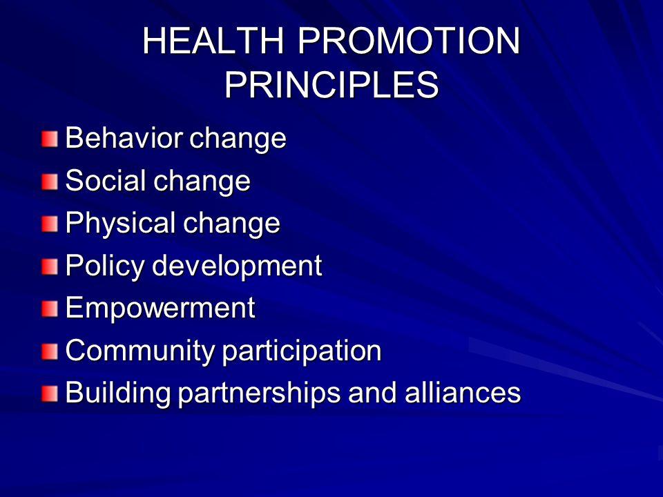 VISI PROMOSI KESEHATAN Meningkatnya kemampuan dan kemauan masyarakat untuk memelihara dan meningkatkan kesehatan.