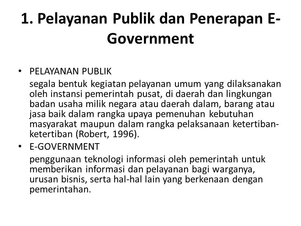 KEUNTUNGAN & KERUGIAN E- GOVERNMENT KEUNTUNGAN Pelayanan servis yang lebih baik kepada masyarakat.