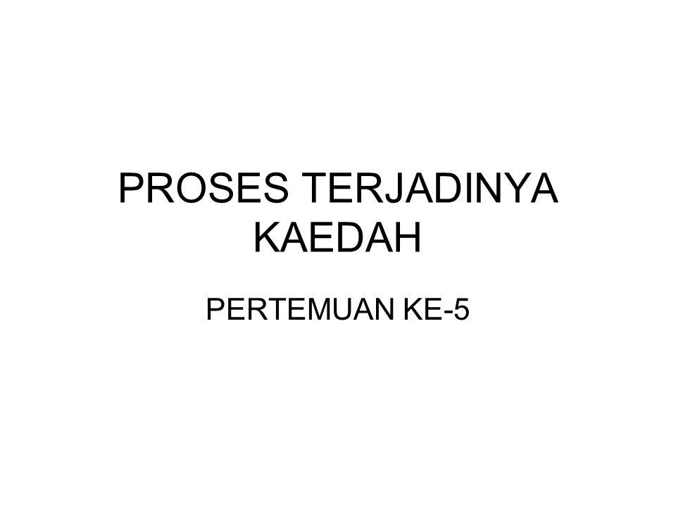 PROSES TERJADINYA KAEDAH PERTEMUAN KE-5
