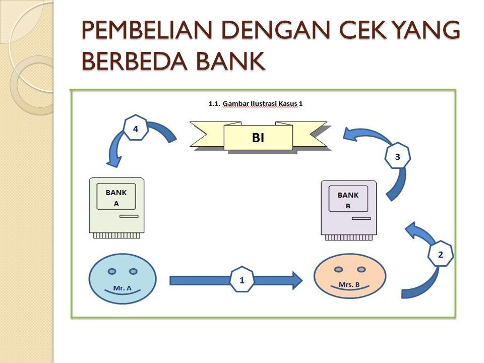 PEMBELIAN DENGAN CEK YANG BERBEDA BANK